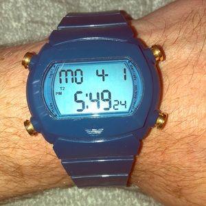 Mens Adidas Candy Chronograph Watch Blue